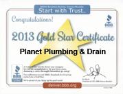 bbb accredited goldstar plumber boulder