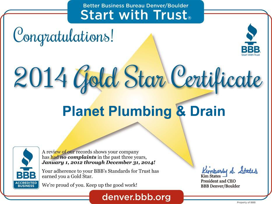 bbb gold star plumbing boulder co