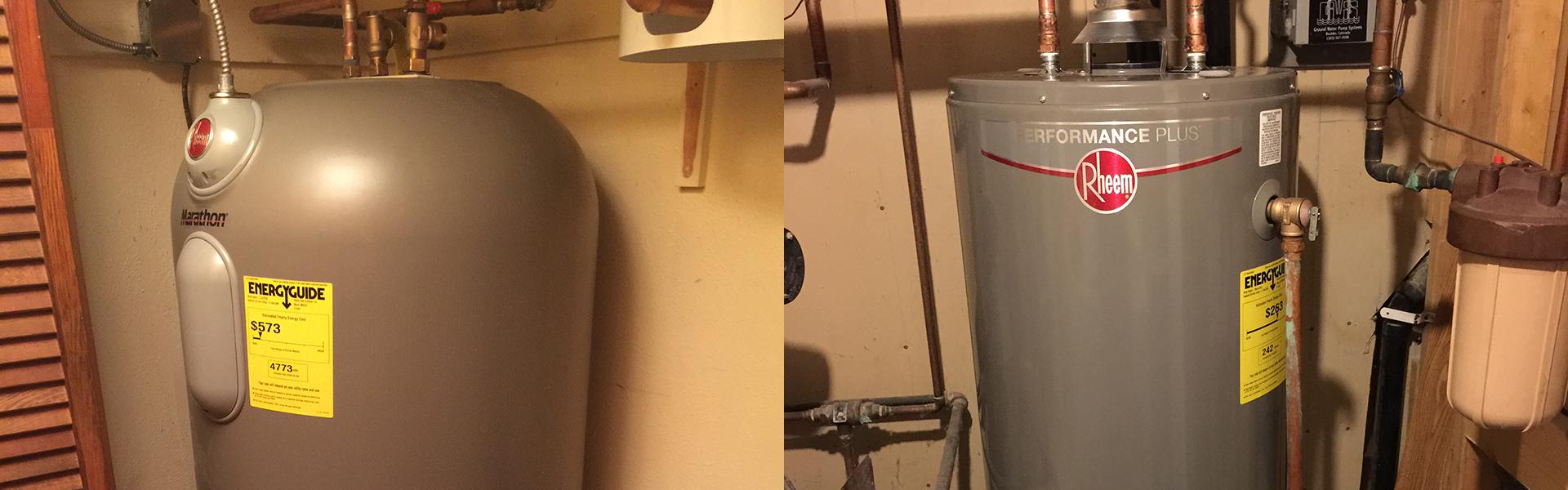 water heater replacement boulder longmont