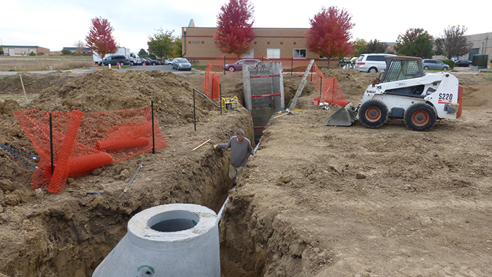 sewer water line excavation